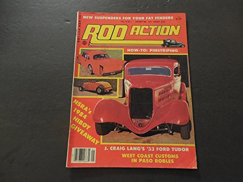 Rod Action Jan 1985 Fat Fenders; Pinstripping; '33 Ford ()