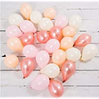 60pcs 10inch Mixed Rose Gold,Peach, Pink,White,Latex Balloon for Wedding Garland Kids Birthday Party Bridal Shower Baby Shower Decoration