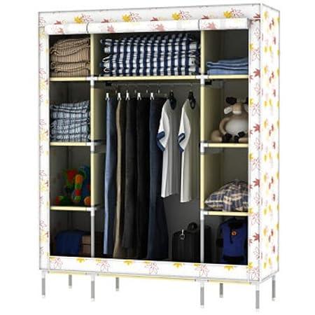 Generic Super Large Triple Portable Folding Wardrobe Reinforced Clothes Closet Rack New