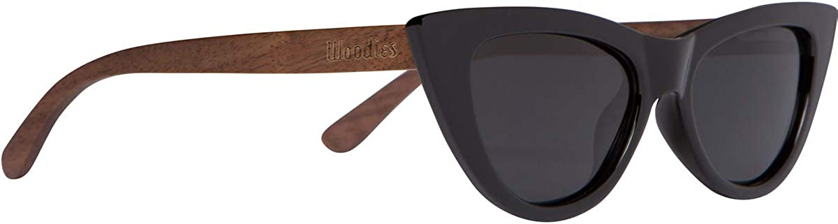 Woodies Cat Eye Sunglasses Polarized Lenses Made from Real Walnut Wood