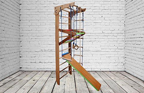 Construcción robusta! Zona de juegos de madera para interior KN-03-220 Escalera sueca Complejo deportivo de gimnasia: Amazon.es: Deportes y aire libre