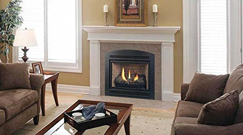 Majestic DVB Series Convertible Direct Vent Fireplace with Millivolt Ignition - 42 Inch Convertible Direct Vent Fireplace