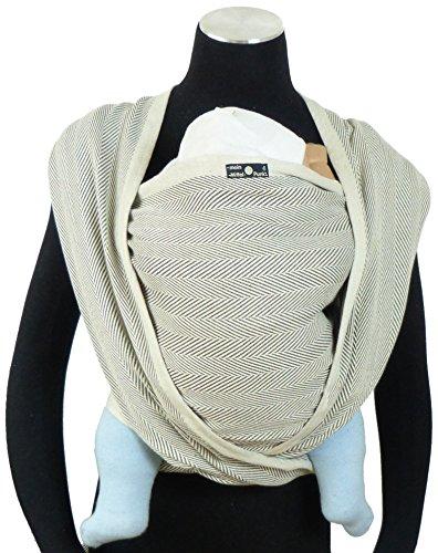 DIDYMOS Woven Wrap Baby Carrier Lisca/Herringbone Grigio (Organic Cotton), Size 8 SLDIR-LISGRI-8