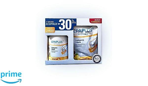 EPAPLUS COLAGENO + SILICIO + HIALURONICO + MAGNESIO LIMON pack2 unidades: Amazon.es: Salud y cuidado personal