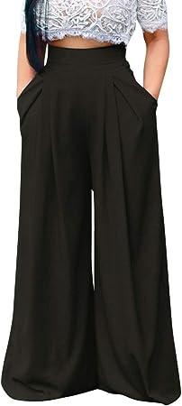 Palazzo pantalones de salón, SIN+MON para mujer, elásticos ...
