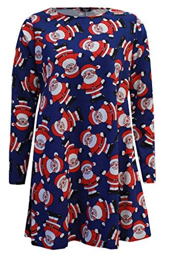 Oops Outlet - Vestido - para mujer Waving Santa Navy