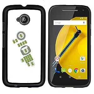 """Be-Star Único Patrón Plástico Duro Fundas Cover Cubre Hard Case Cover Para Motorola Moto E2 / E(2nd gen)( Verde blanca abstracta Fútbol Soccer"""" )"""