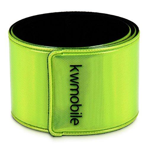 kwmobile 6x Reflektorband Neon Gelb - Reflektierendes Band Schnapparmband Set - Reflektor Sicherheitsband EN13356 für Kinder Arm Bein Joggen Fahrrad