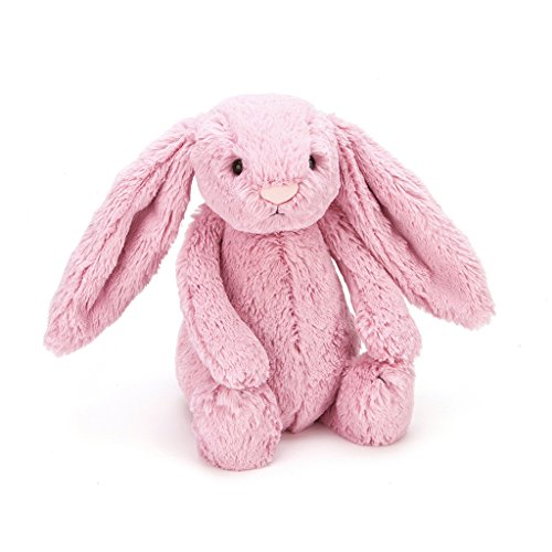 Jellycat Bashful Pink Tulip Bunny Stuffed Animal, Medium, 12 inches