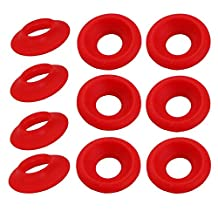 New Silicon Rubber Grolsch EZ Cap Swing Top Bottle Washer Gasket Red/white 25pcs (Red)