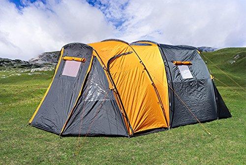 Trendkontor 4 Personen Marken Tunnelzelt Campingzelt Zelt teilbare Schlafkabine Kuppelzelt