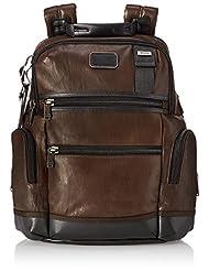 TUMI Alpha Bravo Knox Leather Backpack, Dark Brown, One Size