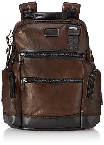 Leather Zipped Entry (Tumi Alpha Bravo Knox Leather Backpack, Dark Brown, One Size)