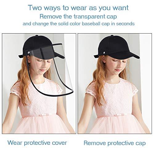 Baseball Cap Toddler UV Protection Sun Hat Outdoor Baseball Hat for Boys Girls,Black