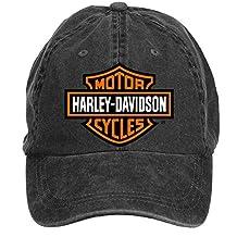 Baorol Harley-davidson Motorcycle Logo Adjustable Baseball Washed Cap