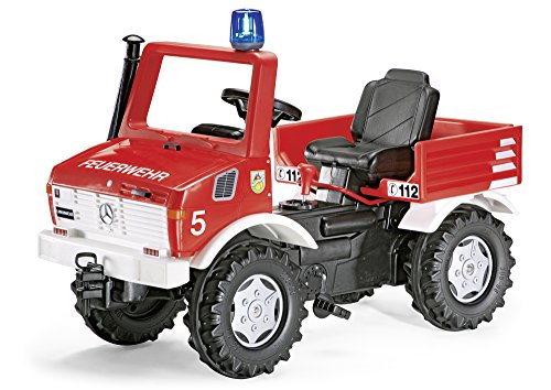 rolly toys 036639 - Tret-Unimog Feuerwehr, 110cm