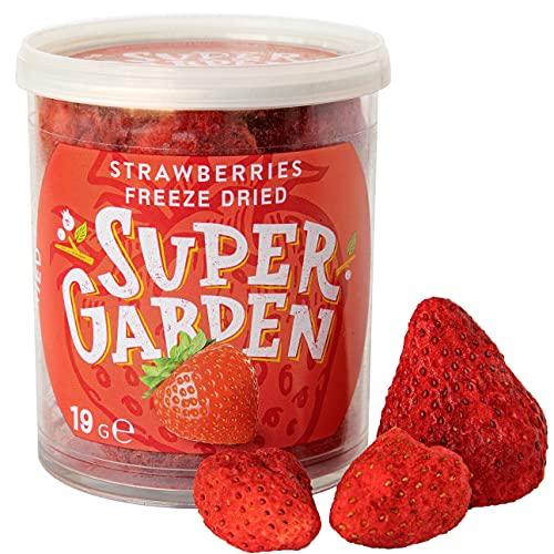 Supergarden gevriesdroogde hele aardbeien – Gezonde snack – 100% puur en natuurlijk – Veganistisch – Zonder toegevoegde…
