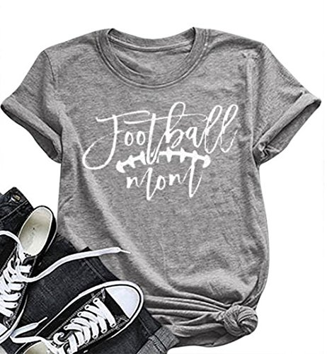 BANGELY Football Mom Letters Graphic Printed Women