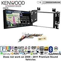 Volunteer Audio Kenwood DNX874S Double Din Radio Install Kit with GPS Navigation Apple CarPlay Android Auto Fits 2006-2008 Kia Accent, 2006-2011 Rio
