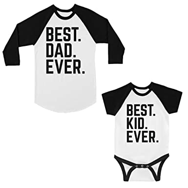 e8b4e725db 365 Printing Best Dad And Kid Ever Baseball Tee Unique Family T-Shirts Ideas