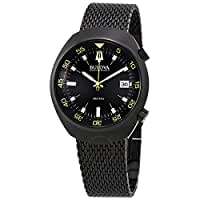 Bulova Men's 98B247 Accutron II Analog Japanese Quartz Black Watch