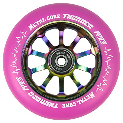 Metal Core Rueda Thunder Rainbow para Scooter Freestyle Di/ámetro 110 mm