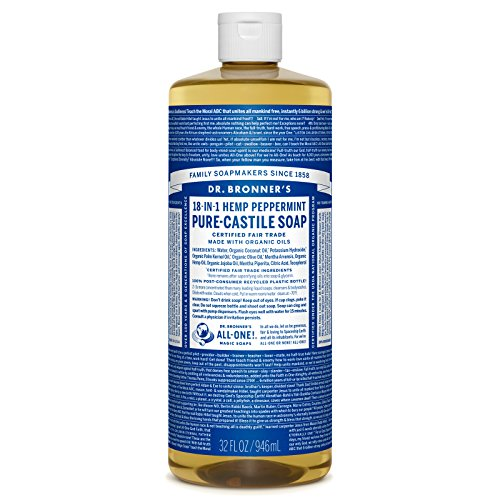 Dr. Bronners Pure-Castile Liquid Soap - Peppermint 32oz