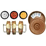 Taco Holder Set - 8+ Pieces Includes 4 Stainless Steel Taco Holders, 3 Salsa/Condiment/Guacamole Bowls, 1 Tortilla Warmer, and 4 Moist Towelettes - Guaranteed Delivery In 3-5 Business Days