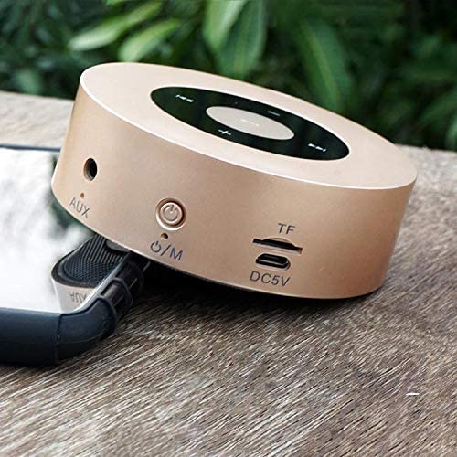PTron Sonor Portable Wireless Bluetooth Stereo Speaker with Bass Sound for All Smartphones Gold