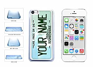 Personalized iphone 6 plusd 5.5 Custom New Hampshire License Plate Clear Plastic Phone Case Back Cover Apple iphone 6 plusd 5.5 includes diy case Cloth and Warranty Label