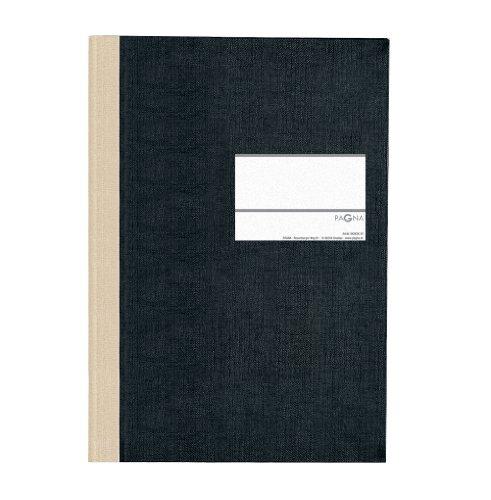 Pagna 14212-04 Geschäftsbuch PNA CLASSICA A4 Papiereinband mit Leinenstruktur, Geweberücken 96 Blatt, kariert, Farbe: schwarz