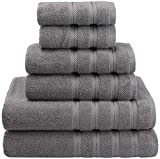 American Soft Linen Premium, Luxury Hotel & Spa Quality, 6 Piece Kitchen and Bathroom Turkish Towel Set, Cotton for Maximum Softness and Absorbency,...