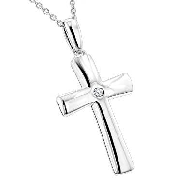 e5de2a49d Amazon.com: Luxurman Love Quotes Necklaces: Small Sterling Silver ...