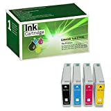Limeink 4 Pack Remanufactured 676XL High Yield Ink Cartridges (1 Black, 1 Cyan, 1 Magenta, 1 Yellow) For Epson WorkForce Pro WP-4010 WP-4020 WP-4023 WP-4090 WP-4520 WP-4530 WP-4533 WP-4540 WP-4590