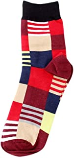 hhsmdaChaussettes en Coton Unisexe Chaussettes Confortables à Rayures Chaussettes en Coton(5 Paires)