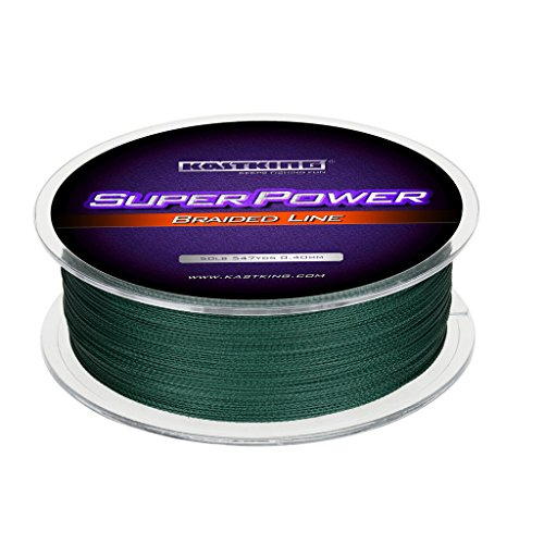 KastKing Superpower Braid Fishing Line, Moss Green, 25LB/0.22mm/(300M/327 (Best Spiderwire Monofilament Lines)