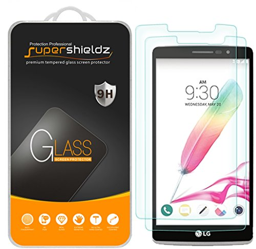 Supershieldz (2 Pack) for LG G Stylo Tempered Glass Screen Protector Anti Scratch, Bubble Free