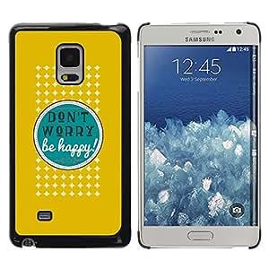 Be Good Phone Accessory // Dura Cáscara cubierta Protectora Caso Carcasa Funda de Protección para Samsung Galaxy Mega 5.8 9150 9152 // Dont Worry Be Happy Quote Positive Attitude