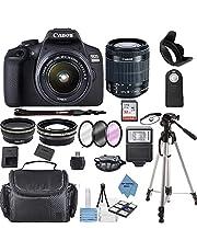 Canon EOS 2000D (Rebel T7) DSLR Camera w/Canon EF-S 18-55mm F/3.5-5.6 Zoom Lens + Case + 32GB Memory Card + TopKnotch Kit