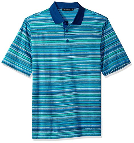 Bugatchi Men's Single Mercerized Paradise Print Polo Shirt, XL