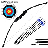 Dostyle Outdoor Recurve Bow and Arrow Set Archery Training Toy(40LB,5¡ÁArrows,6¡ÁTarget Faces)