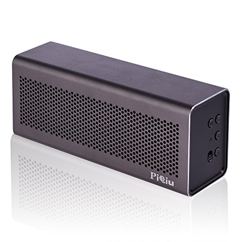 [New Release]Bluetooth Speaker, Piqiu Premium Aluminum portable Wireless Stereo Speaker,Dual Passive Radiators / Subwoofers for Bass---fit for iPhone, iPad, Samsung and More, Built-in Microphone