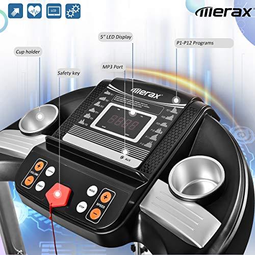 Merax Treadmill Easy Assembly Folding Electric Treadmill Motorized Running Machine by Merax (Image #4)