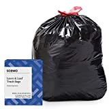 Amazon Brand - Solimo Lawn & Leaf Drawstring Trash Bags, 39 Gallon, 40 Count