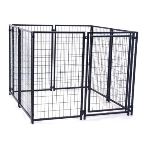 ALEKO DK5X5X4 Dog Kennel Heavy Duty Pet Playpen Dog Exercise Pen Cat Fence Run for Chicken Coop Hens House
