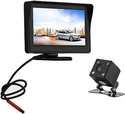 """MONITOR LCD TFT 4.3"""" A COLORI AUTO CAMPER PER TELECAMERA RETROMARCIA REAR VIEW"""