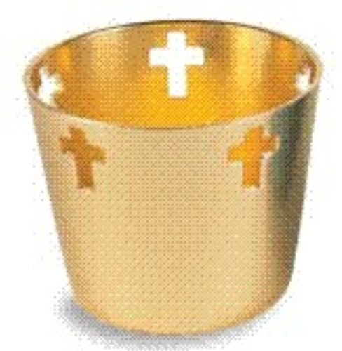 Gold Votive Holder (WDS009) 10-hour Aluminum by Christian Brands