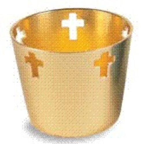 Gold Votive Holder (WDS009) 10-hour Aluminum