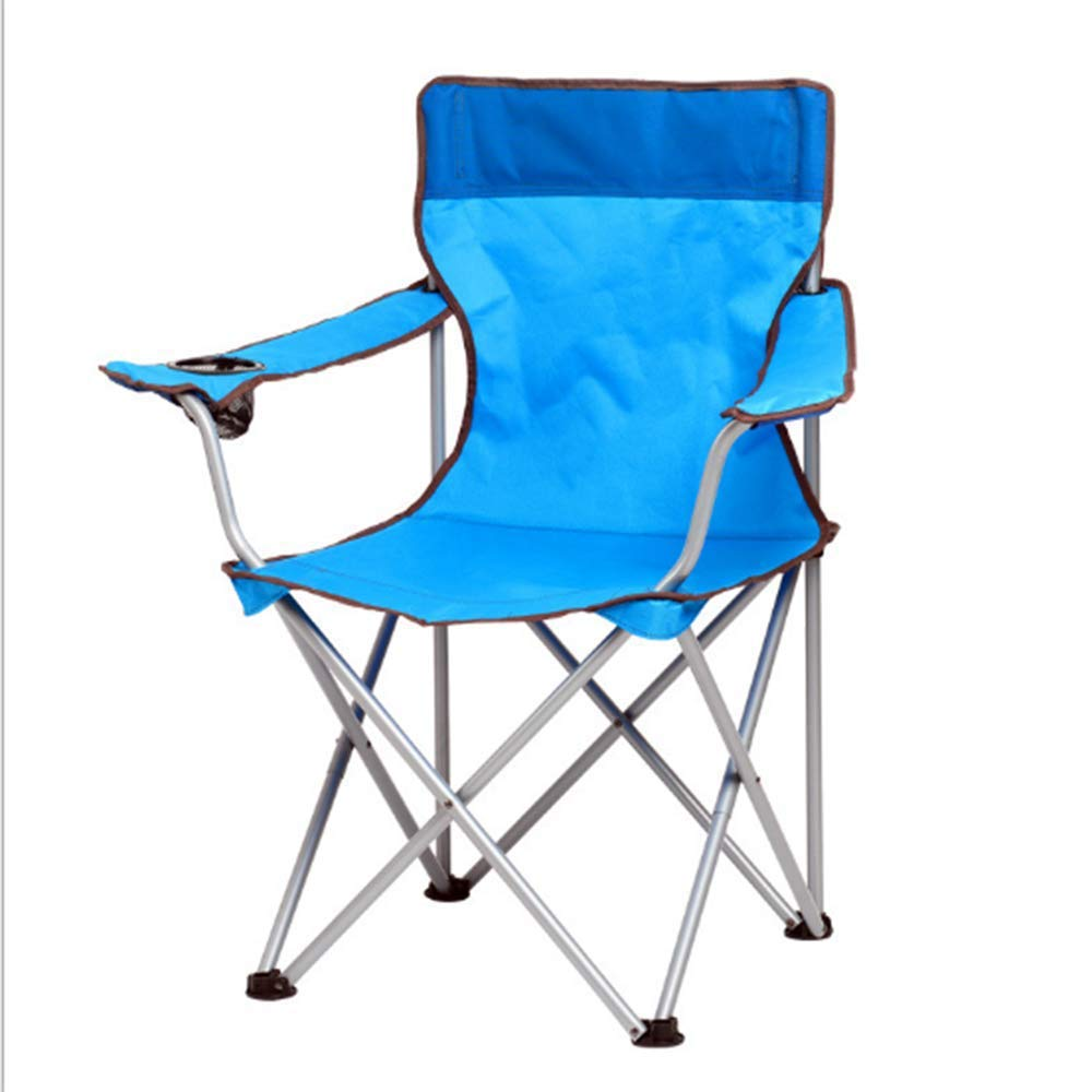 ZHANGJN Outdoor Folding Camp Chairs ltralight Portable Fishing Chairs with Armrest for Festival, Beach, Hiking-Blue by ZHANGJN