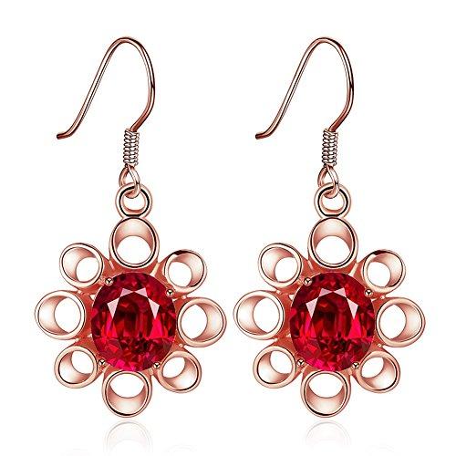 Women Fashionable Flower Eardrop Earrings Round Elegan Earrings Nancy A. Ward (Lifetime Double Shot Basketball)